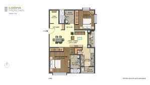 lodha meridian master layout u0026 unit plans for 2 u0026 3 bed residences