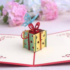 arrival laser gift box butterfly design 3d pop up
