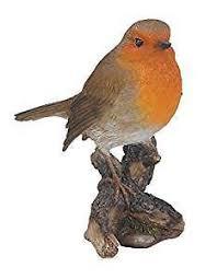 arts birds robin size f garden ornament ebay