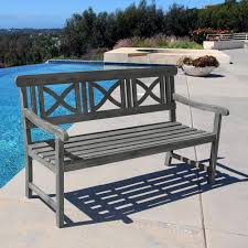 gray outdoor benches patio chairs the home depot