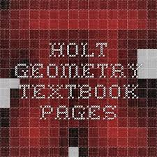 holt geometry textbook pages homeschool pinterest textbook