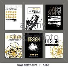 template black a4 brochures design 2 pages flyer with space for