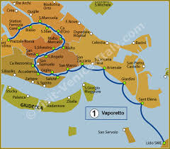venice vaporetto map water venice vaporetto map of line 1 actv