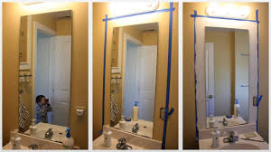 How To Make A Bathroom Mirror Frame Bathroom Design Eleganthow To Frame A Bathroom Mirror Diy