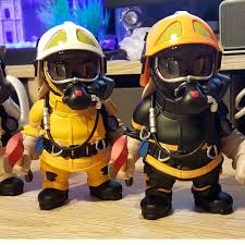 firefighter figurines scdf figurines from masterpiece collectibles set of 4 toys