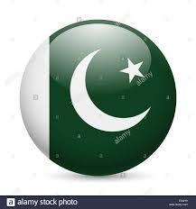 Oakistan Flag Flag Of Pakistan As Round Glossy Icon Button With Pakistani Flag