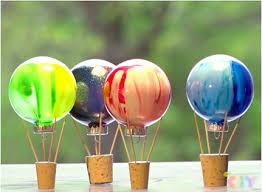 painted air balloons craft crayola