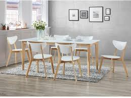 ensemble table extensible 6 chaises carine blanc