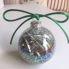 diy glitter baubles projects maison bailey