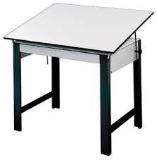Contemporary Drafting Table Alvin Dm60nd Bk Designmaster Table Black Base White Top 37 5