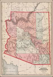 Map Of Arizona And Utah by Arizona Territory Barry Lawrence Ruderman Antique Maps Inc