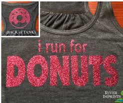 Gym Meme Shirts - donuts flowy tank 2 sided sparkle workout runner racerback tank