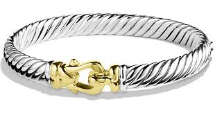 buckle bracelet gold images Lyst david yurman cable buckle bracelet with gold 7mm in metallic jpeg