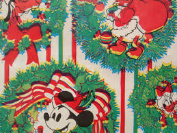 mickey wrapping paper vintage 3d gift wrapping paper walt disney christmas mickey