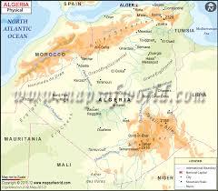 algeria physical map algeria physical map physical map of algeria