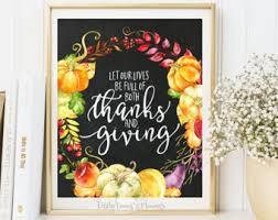 thanksgiving decor fall decor sign autumn print thanksgiving