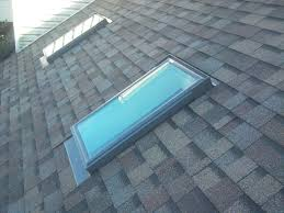 velux skylights install with owens corning summer harvest shingles