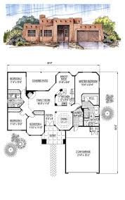 28 santa fe floor plans santa fe style home with walkout santa fe floor plans santa fe southwest house plan 54678