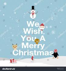 merry card we wish you stock vector 699262285