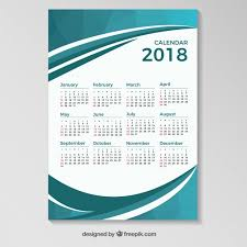 Calendar 2018 Ai Template 2018 Calendar Vectors Photos And Psd Files Free
