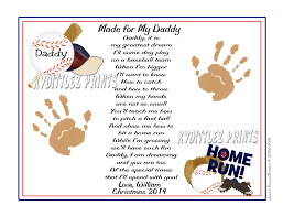 daddy teach me baseball poem personalized 8 x 10 print