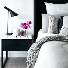 White Gloss Side Table Side Table Black Bedside Table With Marble Topping To Match