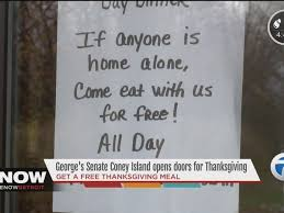 local coney island offers free thanksgiving meals to those alone