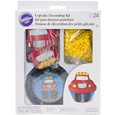 firefighter cupcake toppers wilton 415 2195 truck cupcake decorating kit