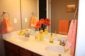 orange bathroom ideas mesmerizing orange and grey bathroom accessories ideas best