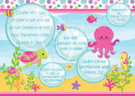 create under the sea baby shower invitations templates egreeting