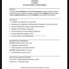 Computer Technician Resume Template Computer Technician Resume Denial Letter Sample Cover Letter