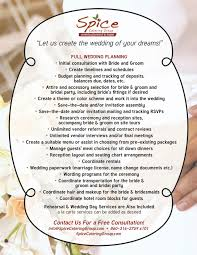 wedding planner packages spice catering page 3 of 3 our world of food