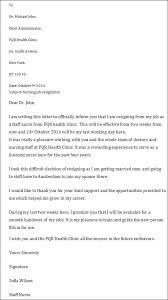 resignation letter format two weeks notice example of resignation
