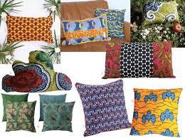 coussins deco deco wax le tissu africain colore la maison wax and salons