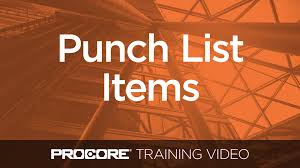 create distribute and respond to punch list items in procore