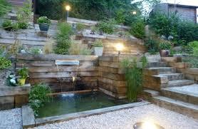 fontaine de jardin jardiland réalisation d u0027un jardin en pente jardins en pente pinterest