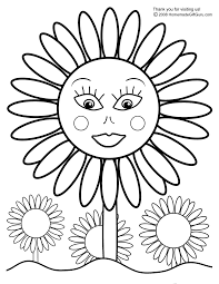 sunflower coloring pages learn language me