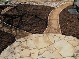 Flagstone Patio Installation Colorado Buff Flagstone Patio And Stone Edged Walkway Installed By