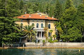Italy Houses by Image Italy Gardone Riviera Mansion Palm Trees Rivers Trees Cities