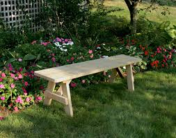 treated pine traditional garden bench