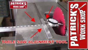 How To Use Table Saw How To Align A Table Saw Contractor Style Saw U2013 Patricksworkshop
