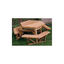 Free Hexagon Picnic Table Plans woodworking project paper plan to build hexagon picnic table
