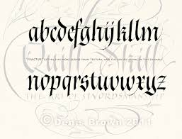 tattoo lettering styles alphabet of gothic letters