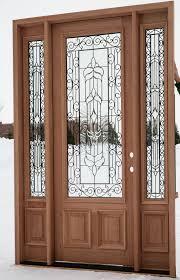 wood door with glass panel image collections glass door