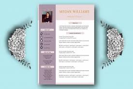 Resume Template For Pages Creative Resume Template For Word And P Design Bundles