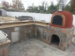 Outdoor Kitchen Pizza Oven Design Pizza Oven Outdoor Patio Mediterranean With Field Pavers K C R