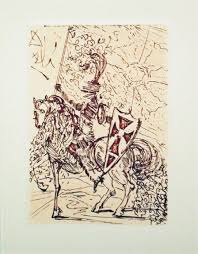 salvador dalí sketches five spanish immortals cervantes don