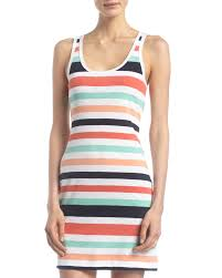 french connection summer striped tank dress off whitemulti in