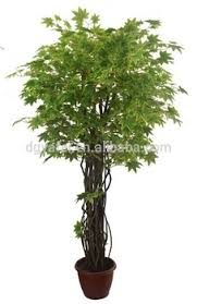 the japanese maple leaves artificial bonsai green plants mini