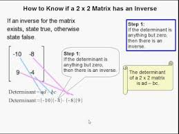 how to determine if a 2 x 2 matrix has an inverse youtube